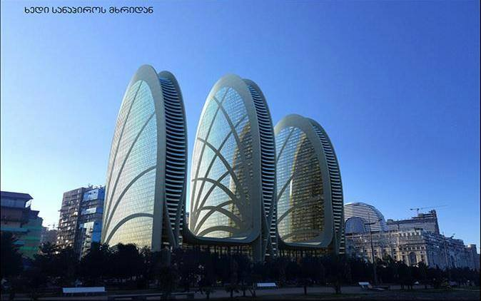 What do you think about the three skyscraper projects instead of ''Luzhkov's House''